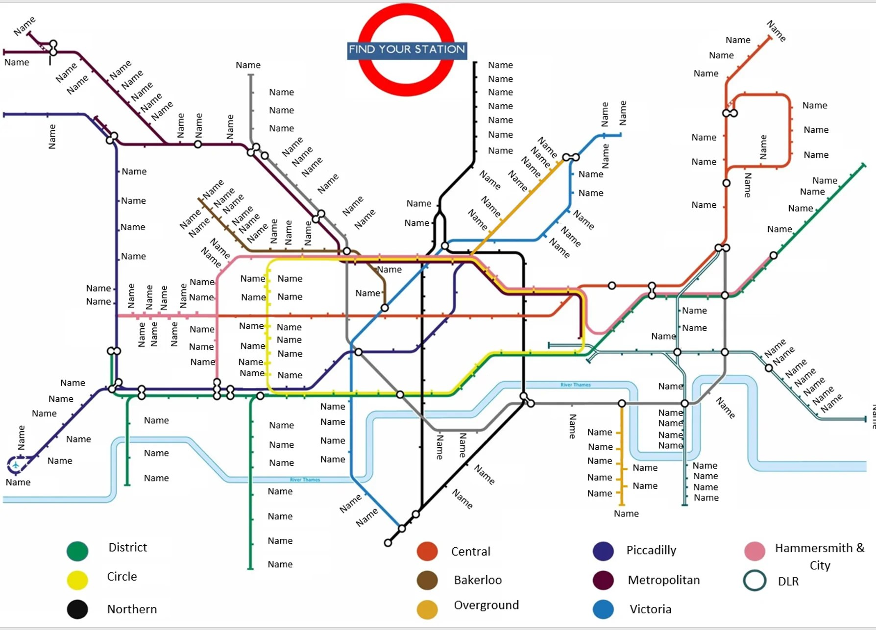 medium resolution of london tube map table seating plan with stations for weddings birthdays parties the party postman