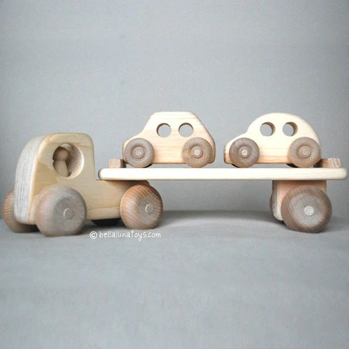 Wooden Toy Truck Car Carrier Toy Truck