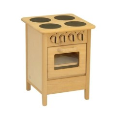 Wooden Play Kitchen Counter Height Stools Euro Cooker Toy Drewart Oven Stove Bella Luna Toys