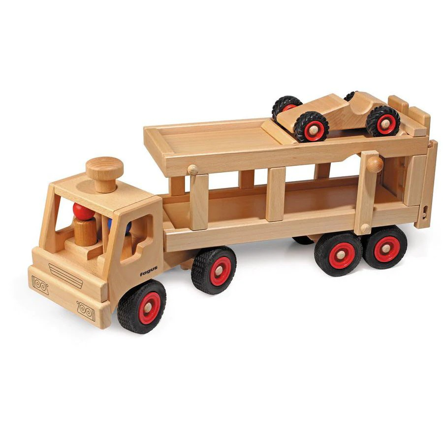 Car Transporter Wooden Toy Truck
