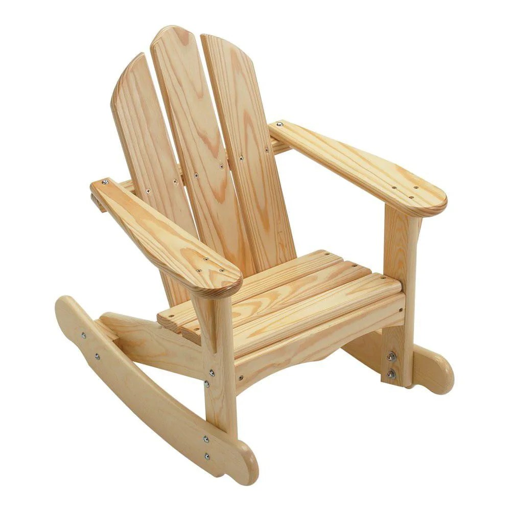Child Wooden Rocking Chair Child S Adirondack Rocking Chair