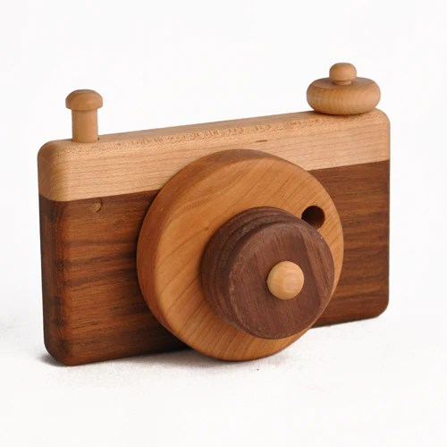 Kids Wooden Toy Camera Made In Usa