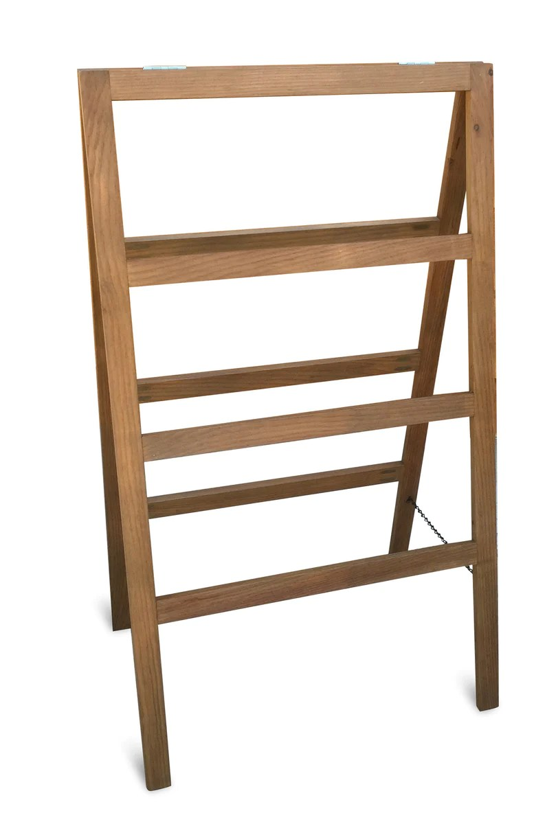 4 Tier Quilt Rack AFrame Ladder Style Folds Flat for