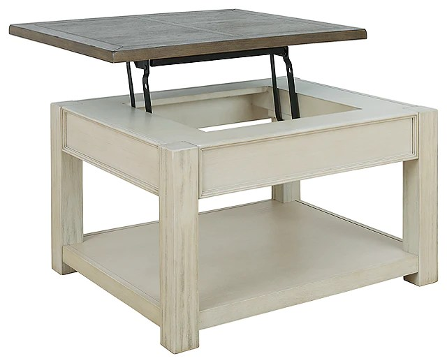 bolanburg coffee table with lift top brown white t751 0 si