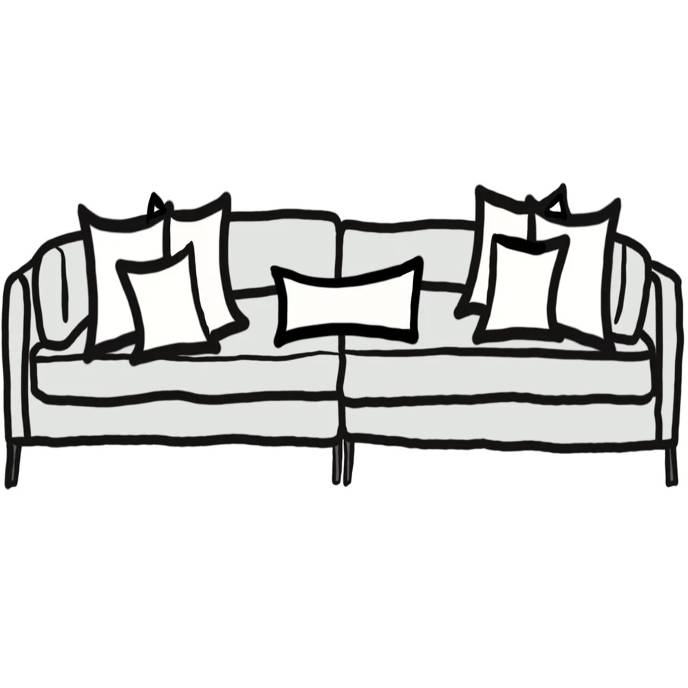 pillow size guide for deep sofa chloe