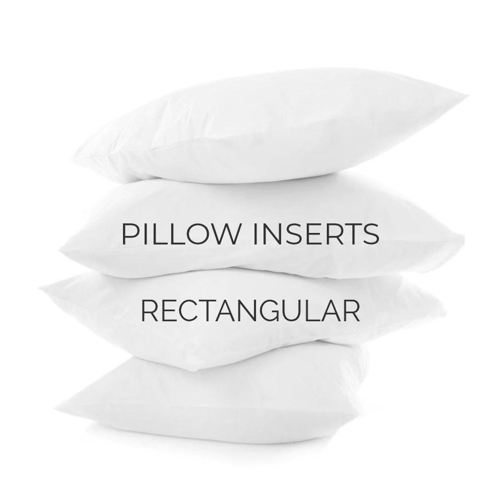 pillow inserts rectangular sizes