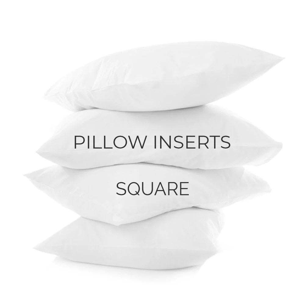 pillow inserts square sizes