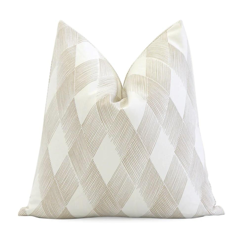 fetlock natural geometric pillow cover