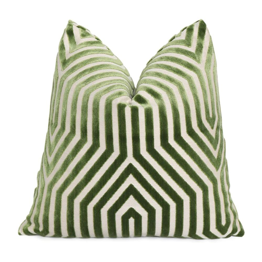 vanderbilt lettuce velvet pillow cover