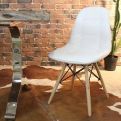 Eames Leather Chair Dining Folding Kathmandu Sydney Style Dsw White Pu Button