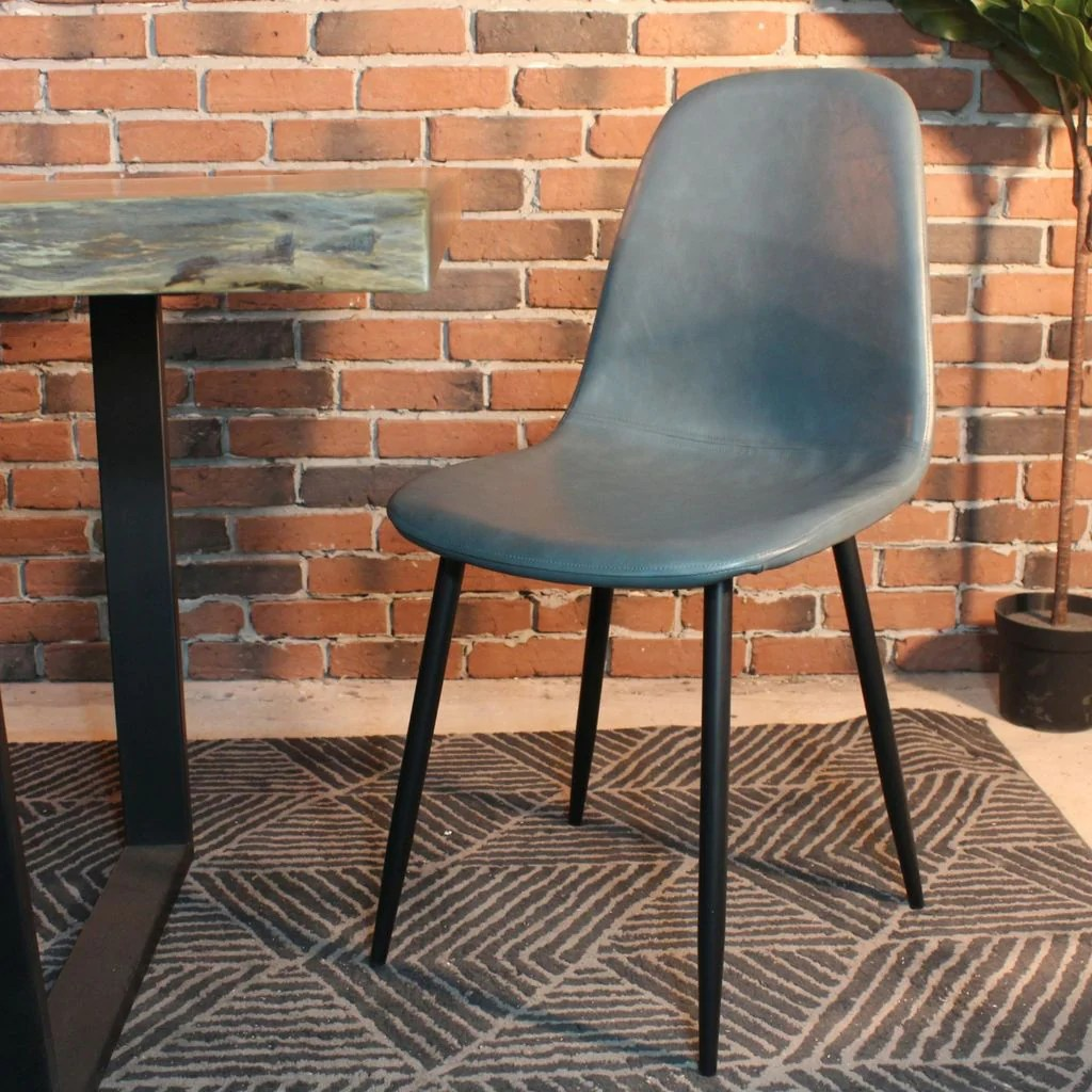 eames leather chair dining lane executive office milan style grey vintage with