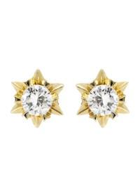 Stud Diamond Earrings For Men | 14K White Gold | 0.59 ...