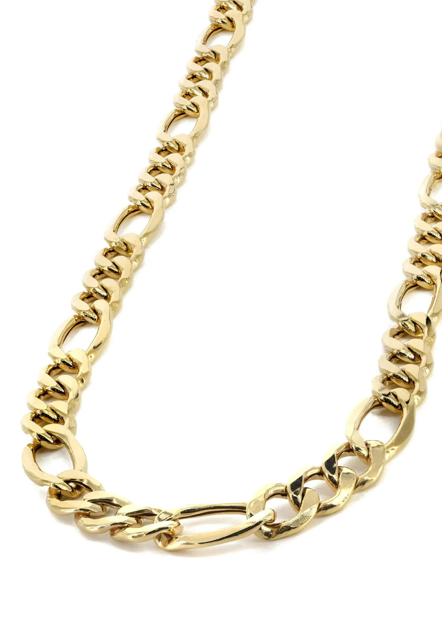 Gold Chain - Mens Solid Figaro 10k Frostnyc