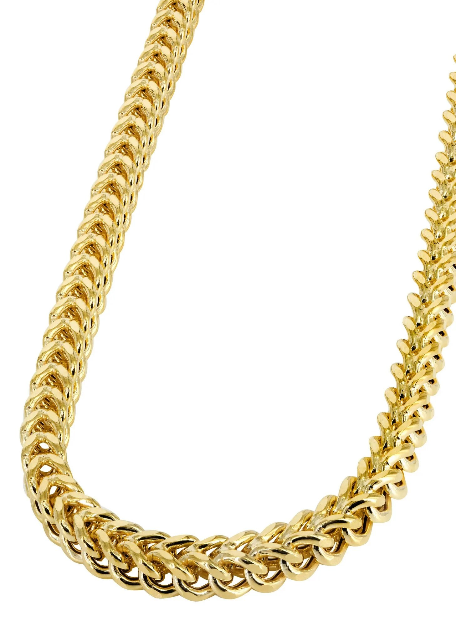 Gold Chain - Mens 10k Yellow Hollow Franco Frostnyc