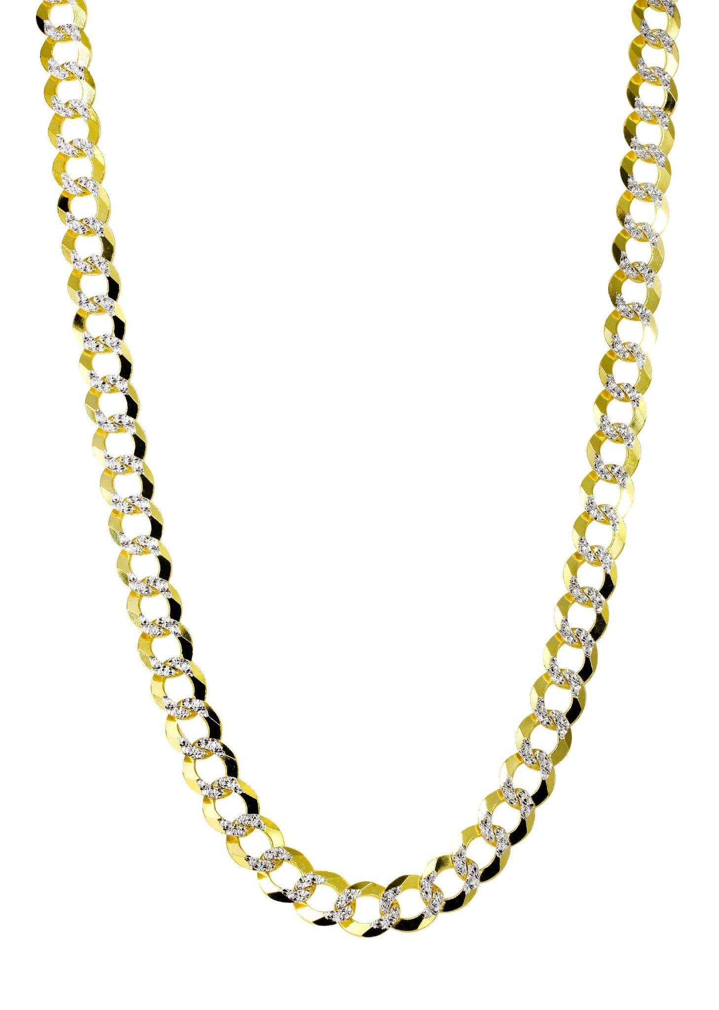 Gold Chain - Hollow Diamond Cut Mens Cuban Link 10k Frostnyc