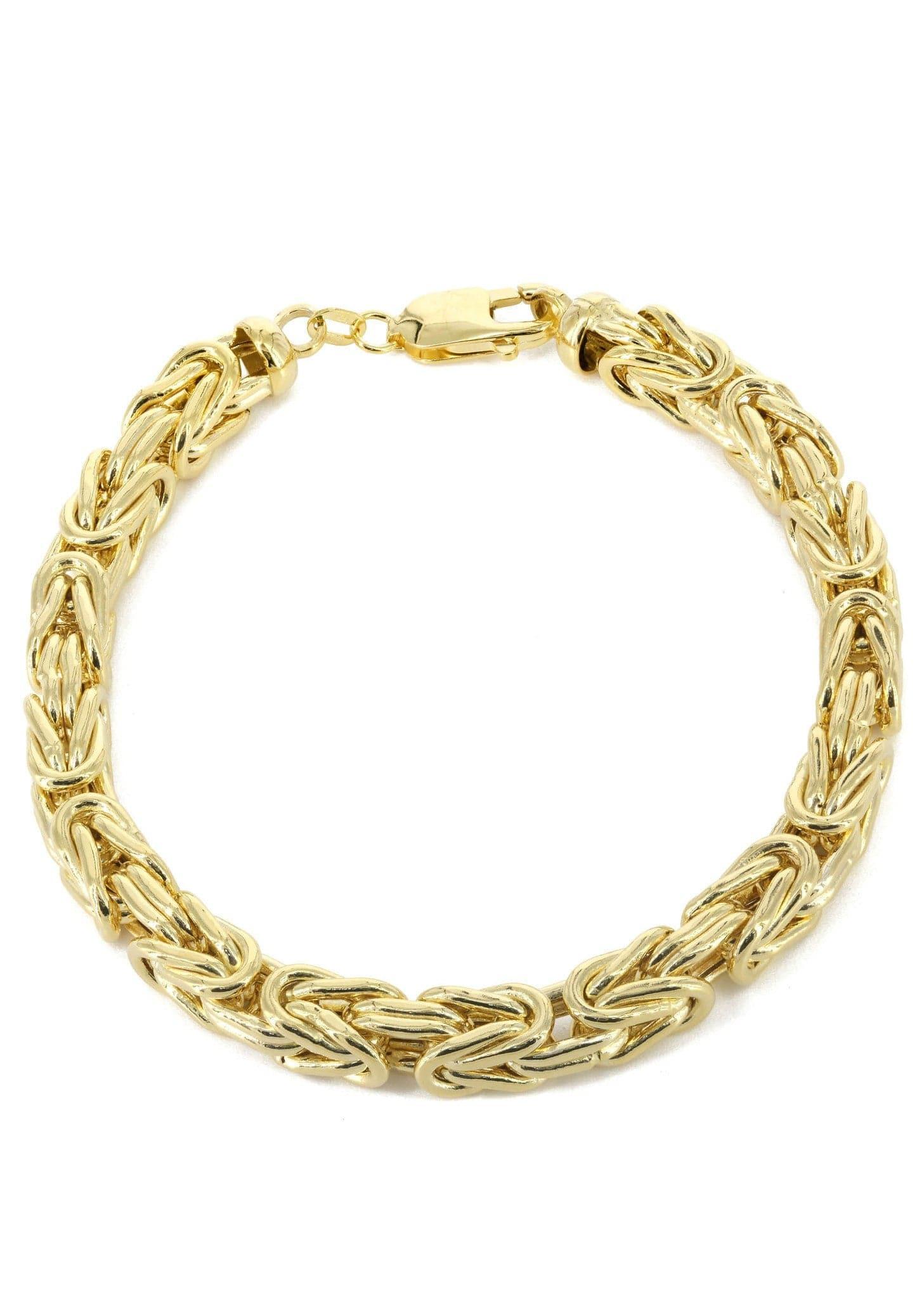14k Gold Bracelet Bizantine Frostnyc