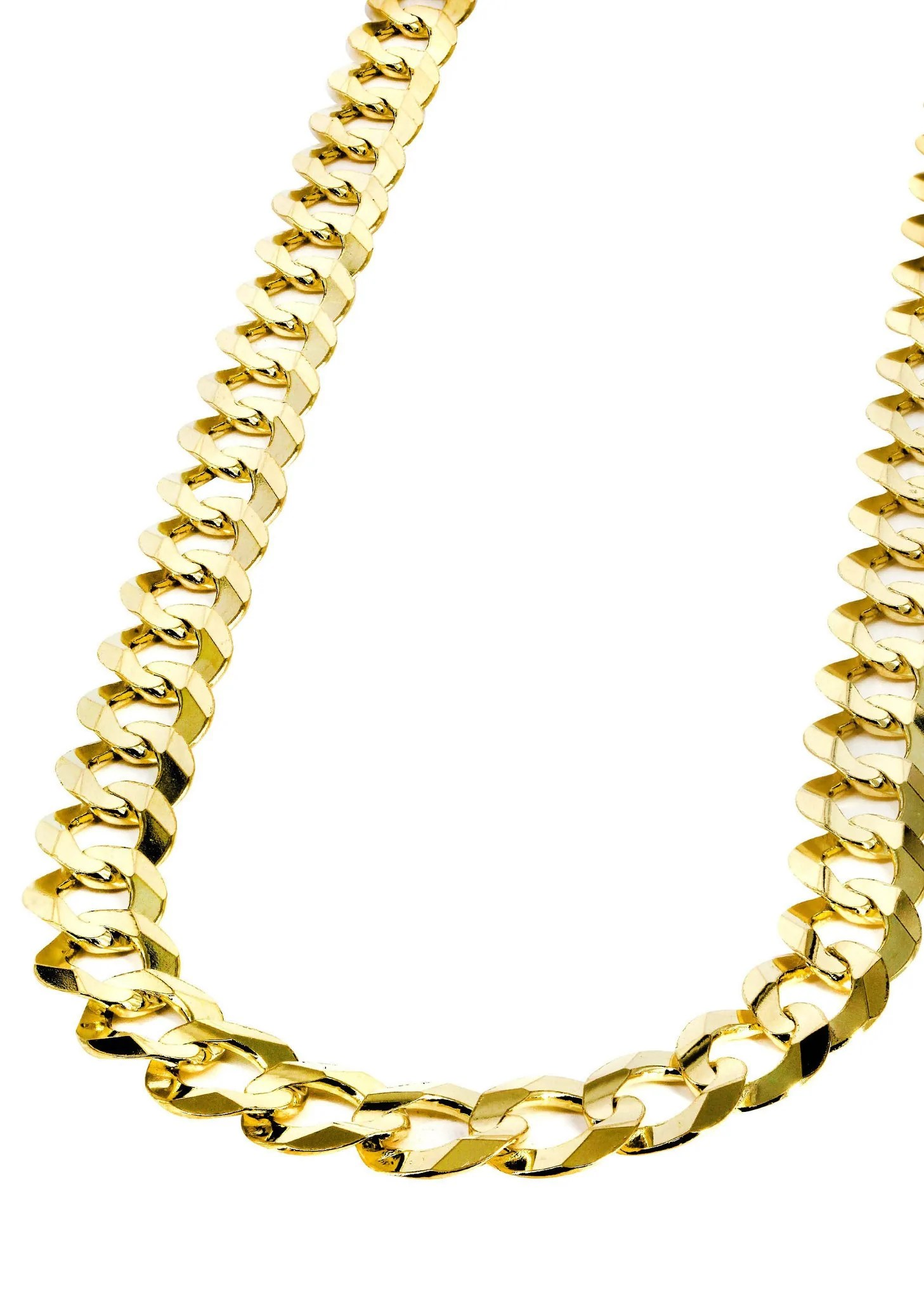 Mens Gold Chain - Solid Cuban Link 10k Frostnyc