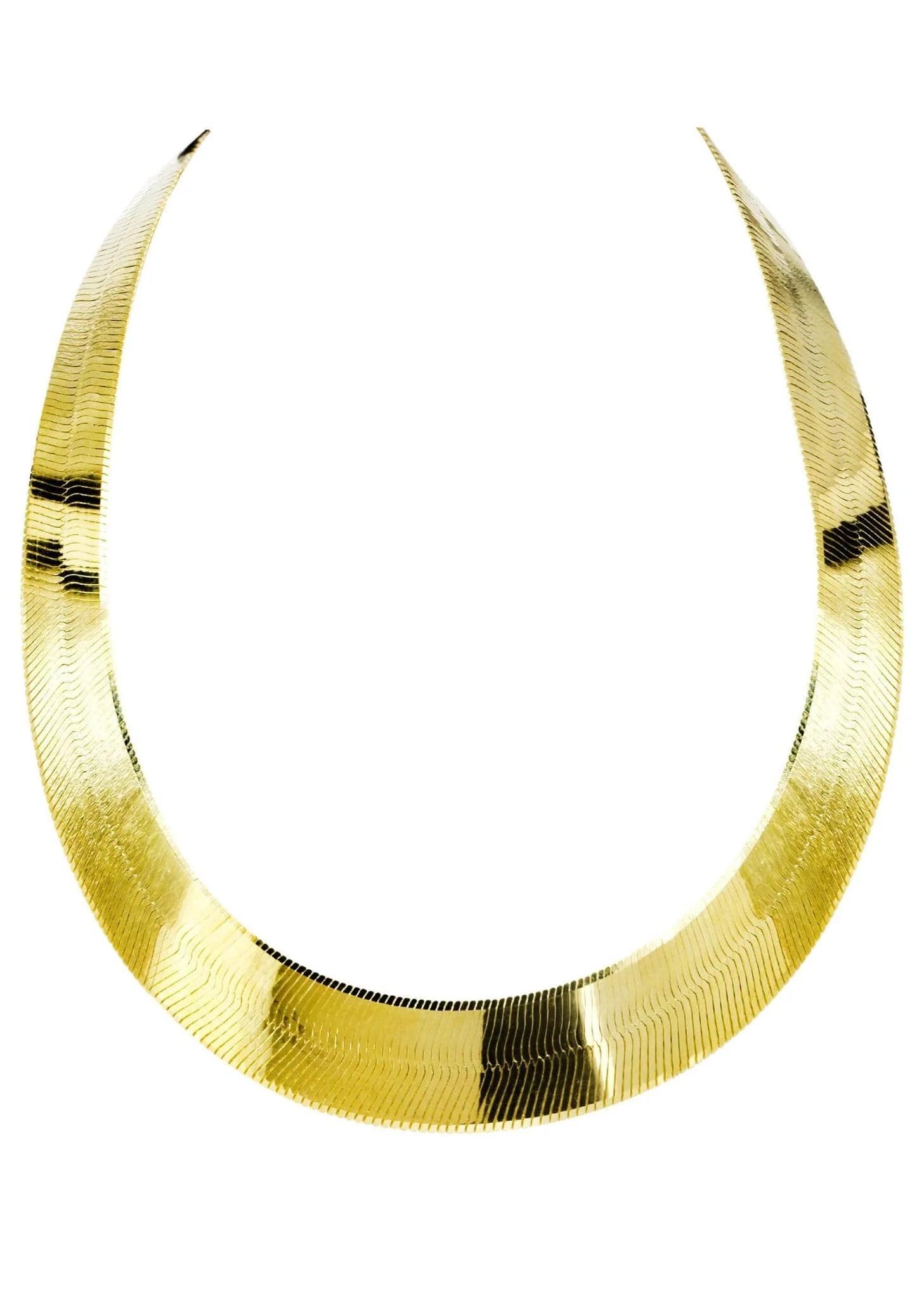 Gold Chain - Mens Herringbone 10k Frostnyc