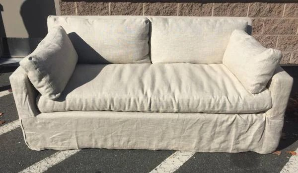 belgian linen sofa leather cleaning services in chennai track arm slipcovered 6 house of presley