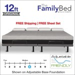 The Family Bed Xl 12 Foot Gel Memory Foam Mattress Bedding Mart