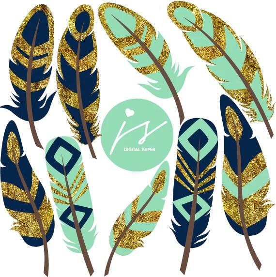 light turquoise navy blue gold
