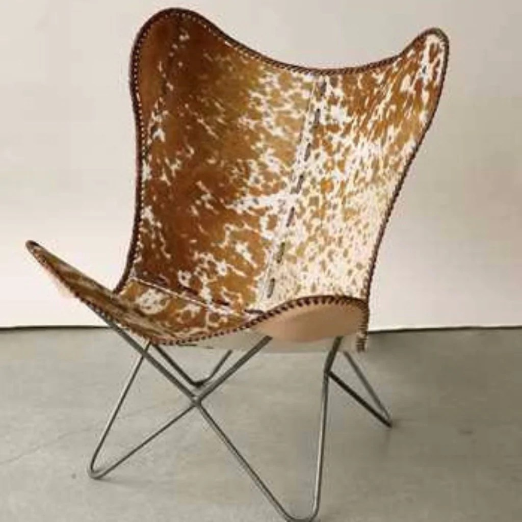 Cow Hide Chair Metal Cowhide Butterfly Chair