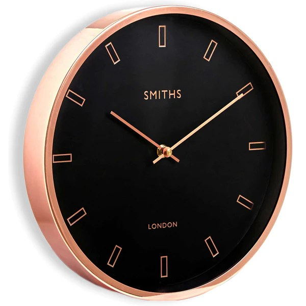 Smiths Firecrest Rose Gold Wall Clock 30cm Britain Can Make It