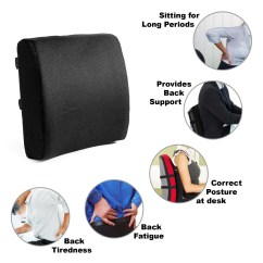 Posture Support Seat Cushion Chair Covers For Folding Metal Chairs Memory Foam Lumbar Easy Brands