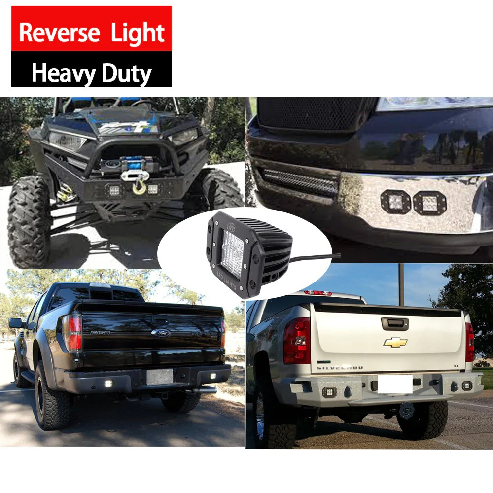 hight resolution of  for jeep trucks pack of house tuning cree led 60w diffused flood backup reverse led flush mount light 20ft wire harenss