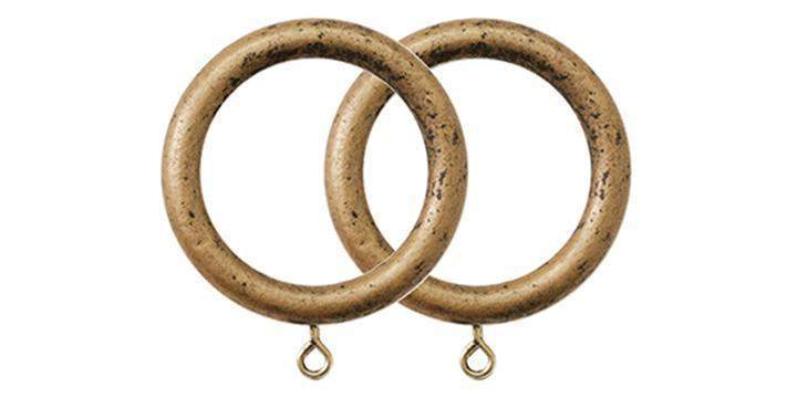 jones cathedral 30mm antique gold curtain rings pack size 4