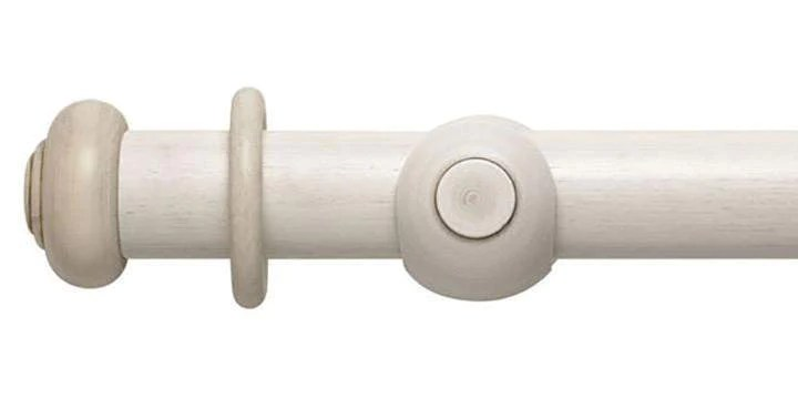 modern country 45mm brushed ivory curtain pole button finial
