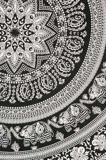 black and white bohemian