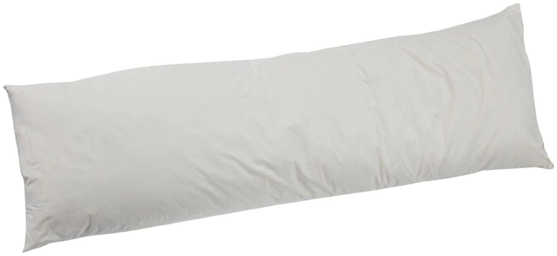 holy lamb organics natural wool body pillow