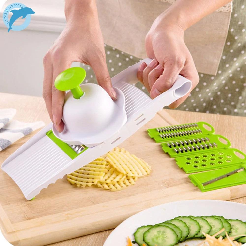kitchen food slicer fluorescent lights multi mandoline vegetable grater set proudmomstore