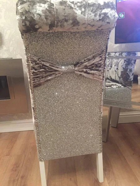 Glitter Back Luxury Dining Chairs  House of Sparkles