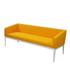 Steel Frame Sofa Suede Set India Cube Low Profile Modern Office Three Seater Ofx