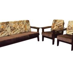 Teak Sofa Sets Hyderabad Brown Leather With Wooden Feet Set Online Awesome Home