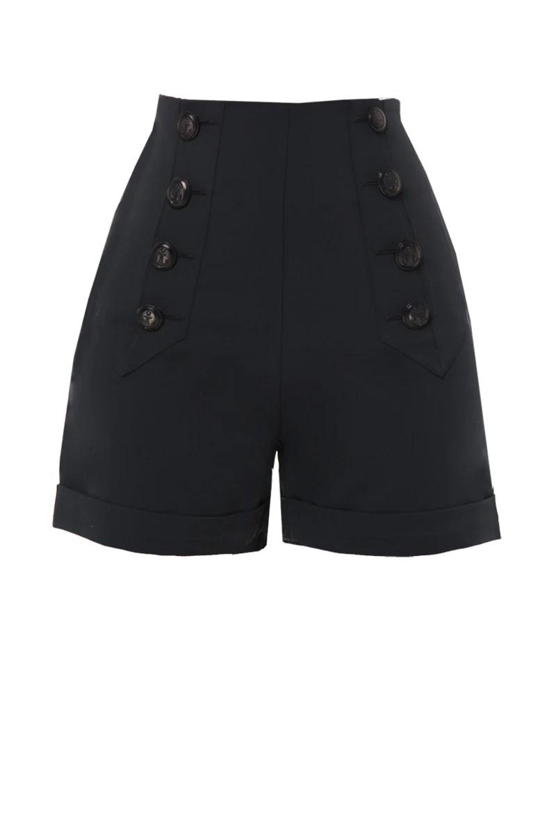 Sailor Shorts Black Green Of Grey
