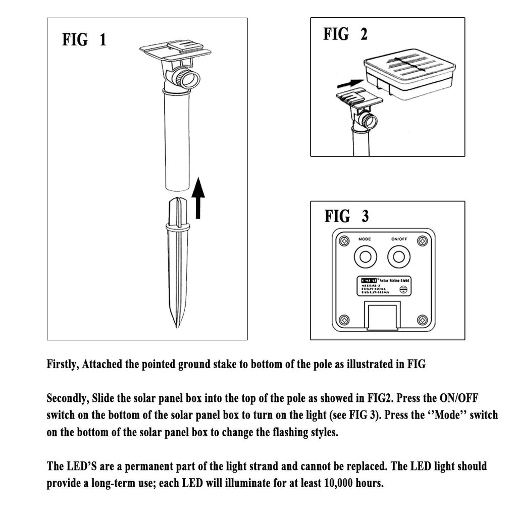 solar led fairy lights 39ft 100 led waterproof solar string light for home lawn  [ 1024 x 1024 Pixel ]