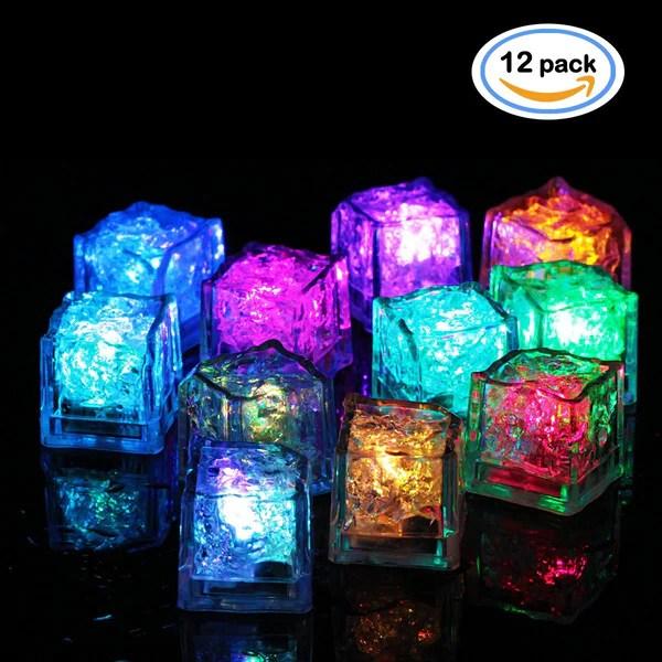 LED Ice Cubes Multicolor Flashing Submersible LED Light