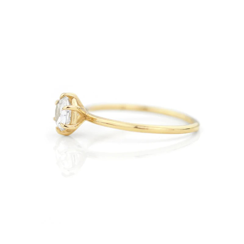 Round Cut white sapphire Ring, Engagement rings by Jamie Park Jewelry USA