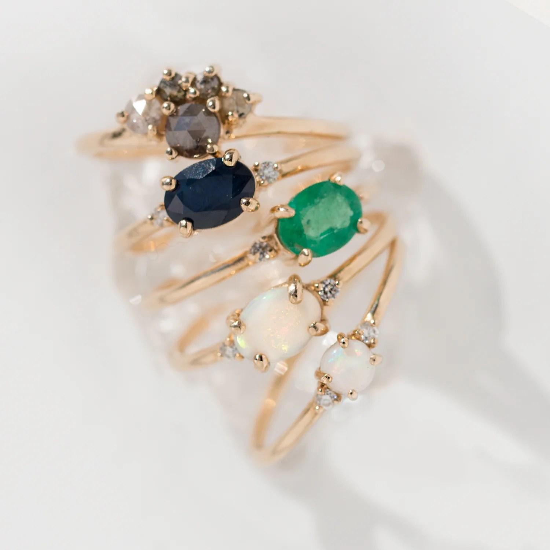 Ella Blue Sapphire Ring by Jamie Park Jewelry USA