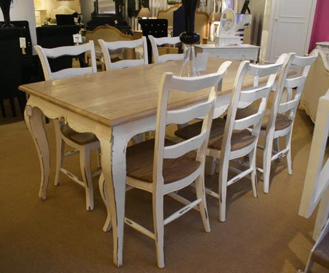 oak dining set 6 chairs hair on hide chair shabby chic table french stone luxury window 1