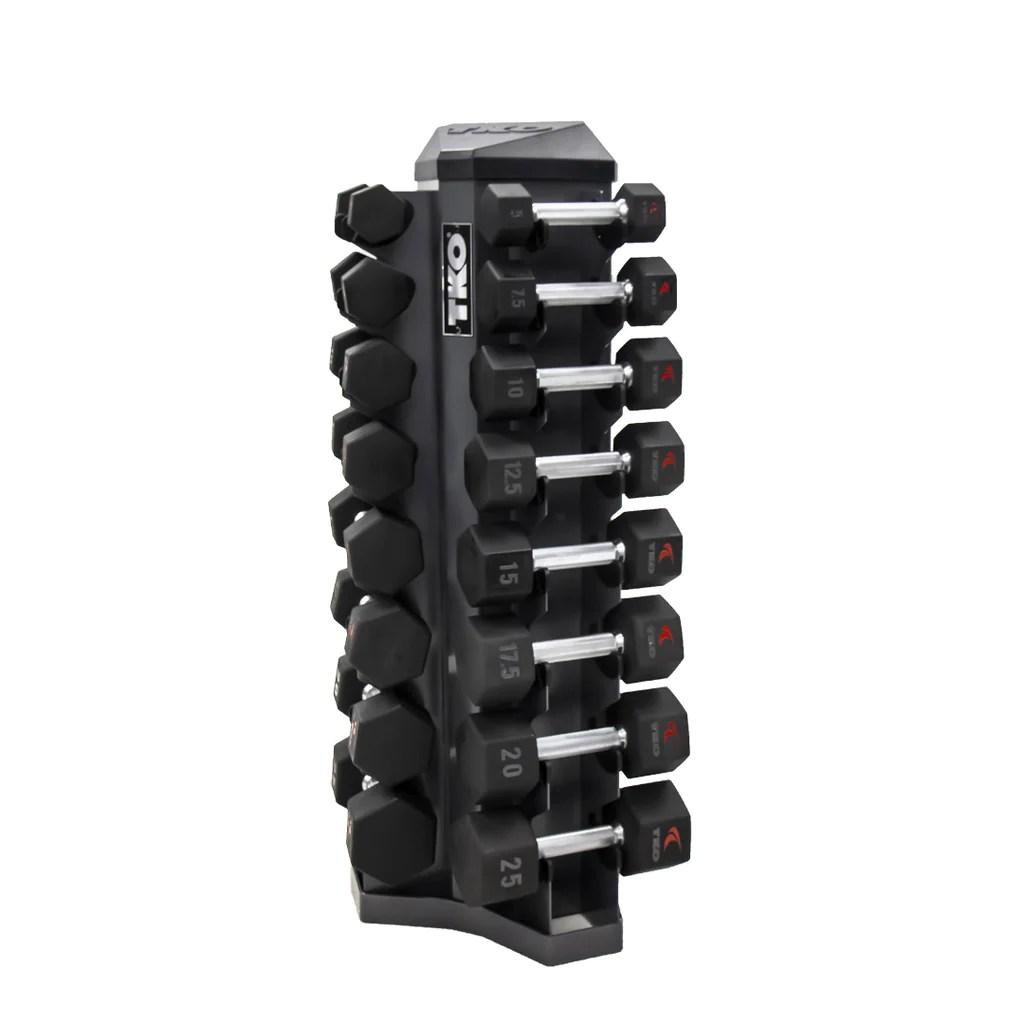 tko 8 pair vertical dumbbell rack tko
