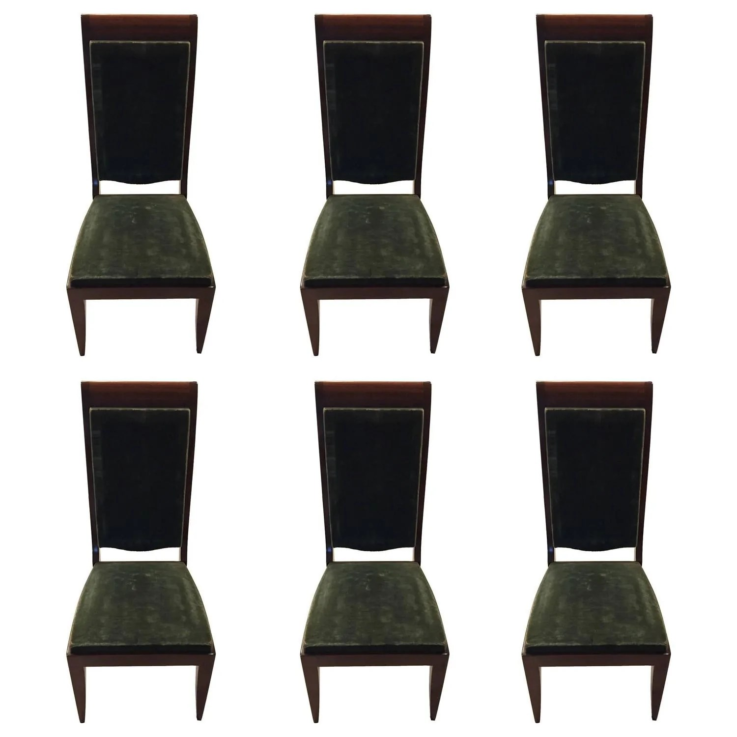 Art Deco Dining Chairs Six Gaston Poisson Attributed French Art Deco Dining Chairs