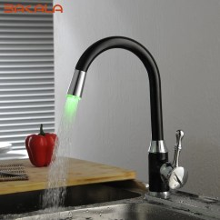 Led Kitchen Faucet 42 Inch Cabinets 8 Foot Ceiling Bakala Oil Rubbed Bronze Faucets Swivel Sink Mixer Tap S 118