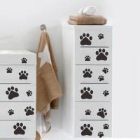 Dog Footprints Vinyl Wall Sticker Art Wall Decals Home ...