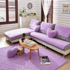 Sectional Sofa Couch Modern Light Grey Fabric Hot Winter Cover For Purple Red Slip Resistant Towel Two