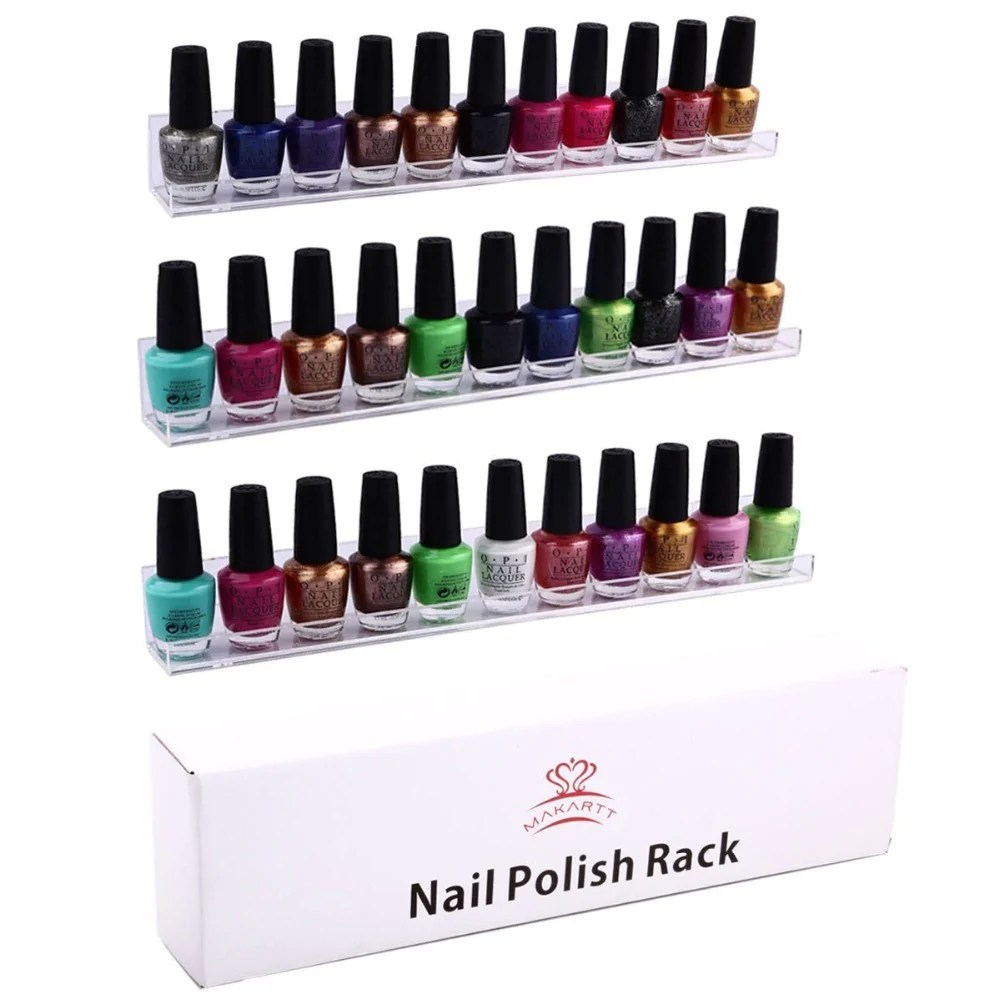 acrylic nail polish shelf