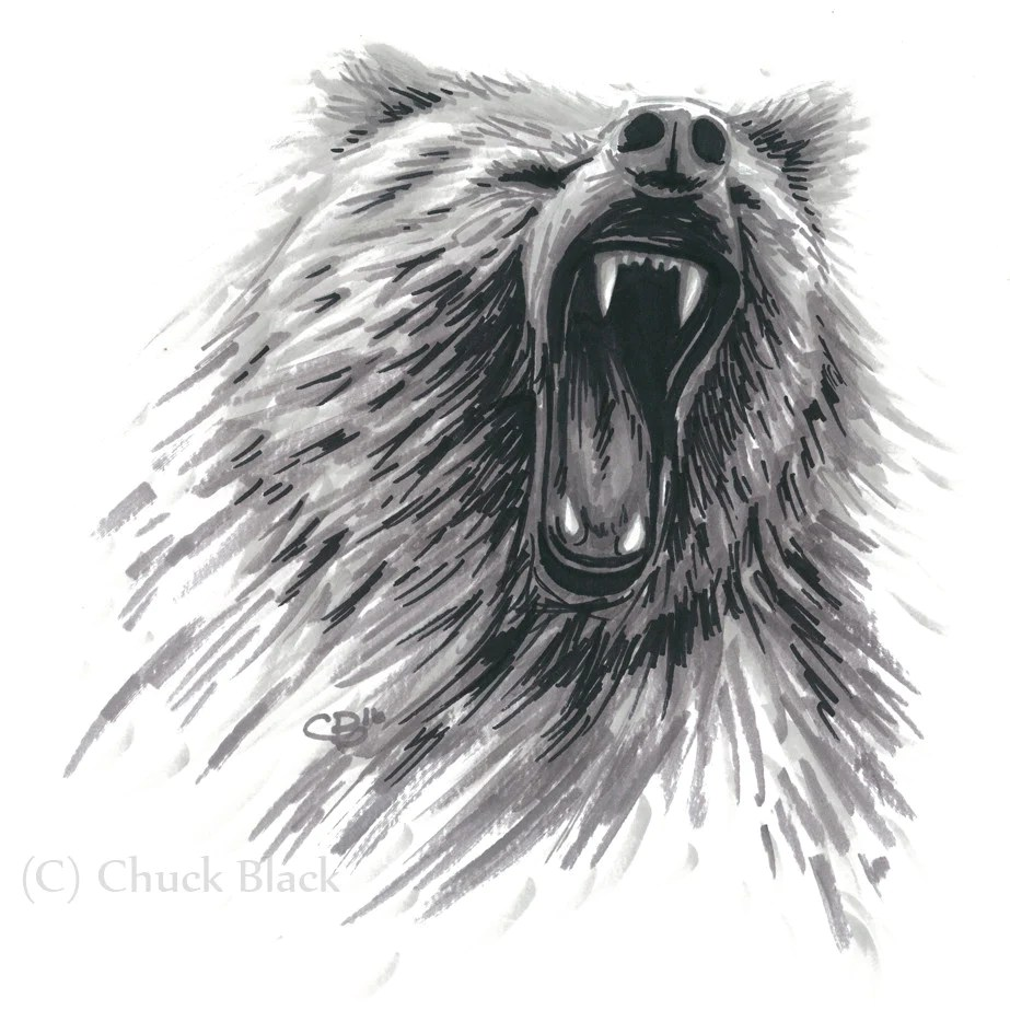 Grizzly Bear Limited Edition Print Grizzly Roar Wildlife And Art